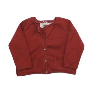 Zara Infant Girls Cardigan Sweater, 9-12 M